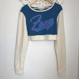 NWT WILDFOX foxy crop sweatshirt